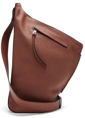 Loewe Anton Small Grained-leather Backpack - Brown