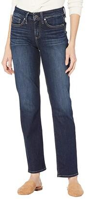 Silver Jeans Co. Suki Mid-Rise Curvy Fit Straight Leg Jeans L93413EPX407 (Indigo) Women's Jeans