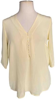 Sandro Yellow Silk Top for Women