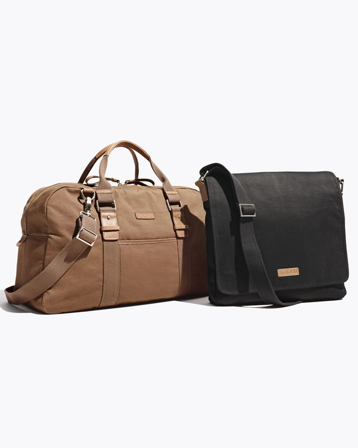 Bodhi Canvas Weekender Duffel & Flap Messenger Bag