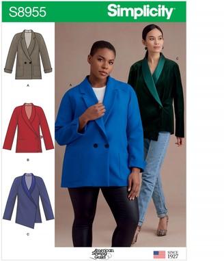 Simplicity Women's Blazer Jacket, 8955