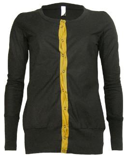 Format PUSH Black & Wood Plain Push Jacket - M - Gold/Black/Orange