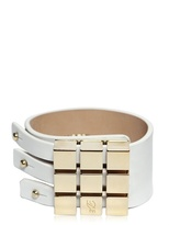 DSquared Leather And Brass Bracelet