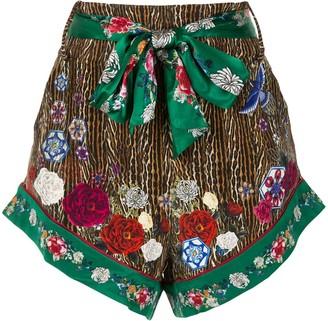 Camilla Tie-Waist Printed Shorts