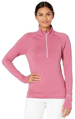 Puma Rotation 1/4 Zip (Peacoat) Women's Clothing