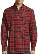 ST. JOHN'S BAY St. John's Bay Long-Sleeve Easy-Care Oxford Shirt