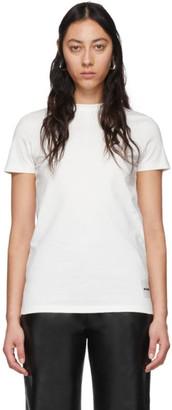 Jil Sander Three-Pack White Cotton T-Shirts