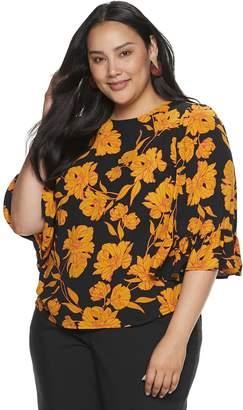 Apt. 9 Plus Size Ruffle Kimono Sleeve Top