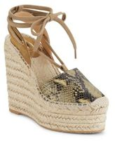 Ash Tracy Bis Leather Lace-Up Wedge Espadrille Sandals