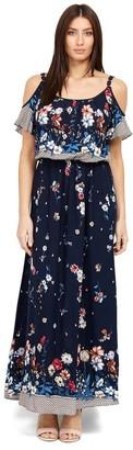 M&Co Izabel cold shoulder maxi dress