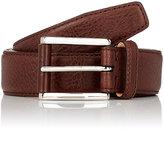 Barneys New York Men's Leather Belt-DARK BROWN