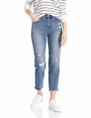 Skinnygirl Women's High Rise Straight Leg Crop Denim Jeans