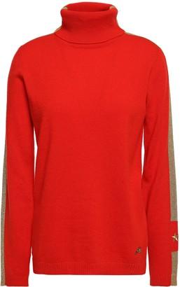 Bella Freud Striped Cashmere-blend Turtleneck Sweater