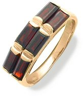 Tatitoto Wedding Women's Ring in 18k Gold with Garnet, Size 8.5, 5.3 Grams