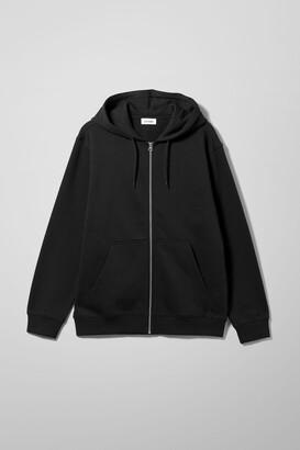 Weekday Standard Zip Hoodie - Black
