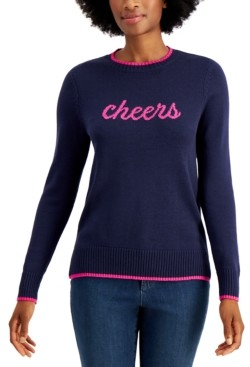 Charter Club Cheers Knit Pullover Sweater, Created for Macy's