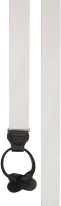 Tie Bar Grosgrain Solid White Suspender