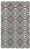 Tribeca Flatweave Black Motif Wool Rug (8' x 10')