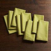 Crate & Barrel Fete Green Cloth Napkins Set of Eight