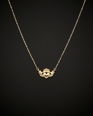 Italian Gold 14K Claddagh Necklace