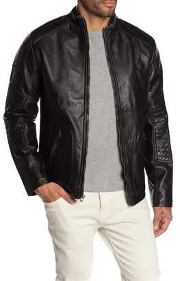 X-Ray XRAY Faux Leather Moto Zip Jacket
