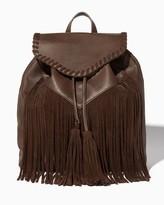 Charming charlie Whipstitch Tassel Backpack