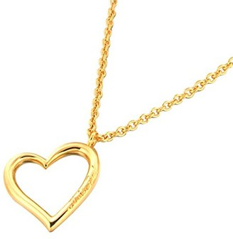 Louise Zoé Louise Zoe Chain Necklace with Heart Design Gold-Plated Brass 70 cm 3LZD0297