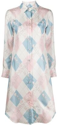 Thom Browne Classic Printed Shirt Dress