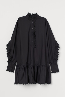 H&M Ruffle-trimmed Cotton Tunic