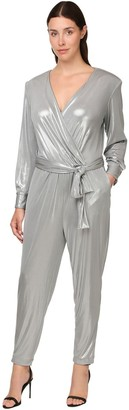 Marina Rinaldi Waxed Jersey Belted Jumpsuit