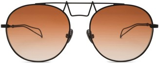 Saint Owen Crowley Round Metal Sunglasses