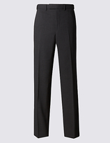 M&S Collection Big & Tall Charcoal Regular Fit Trousers