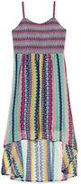 Jessica Simpson Multi-Pattern High-Low Dress, Big Girls (7-16)