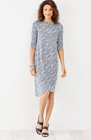 J. Jill Wearever Asymmetric-Hem Print Dress
