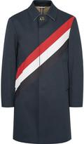 Thom Browne - Striped Cotton-gabardine Raincoat