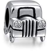 Bling Jewelry Sterling Silver Jeep Car Bead Cz Headlights Charms.