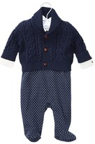 Ralph Lauren Infant Boys' Cable Cardigan, Bodysuit & Overall Set - Sizes 3-9 Months