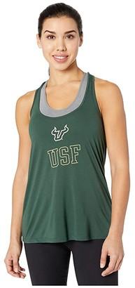 Champion College South Florida Bulls Swing Tank (Dark Green) Women's Sleeveless
