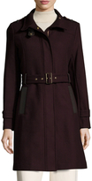 Cole Haan Wool Midi Belted Coat