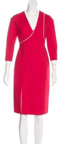Versace Long Sleeve Midi Dress w/ Tags