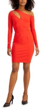 Bar III Asymmetrical Neckline-Cutout Dress, Created for Macy's