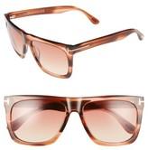 Tom Ford Women's Morgan 57Mm Flat Top Sunglasses - Black/ Gradient Blue