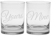 Culver Yours & Mine Double Old Fashioned Glasses - Set of 2