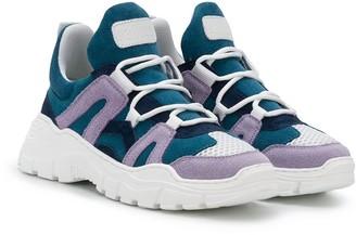 Gallucci Kids Colour-Block Chunky Sneakers