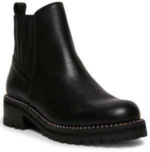 Steve Madden Women's Gale Studded Lug-Sole Booties