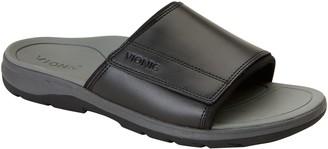 Vionic Men's Leather Slide Sandals - Stanley