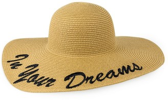 Just Jamie In Your Dreams Floppy Straw Hat