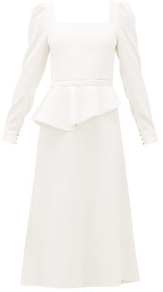 Johanna Ortiz Catalyst Square-neck Crinkled-crepe Dress - Womens - Cream