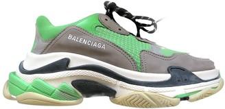 Balenciaga Triple S Green Polyester Trainers