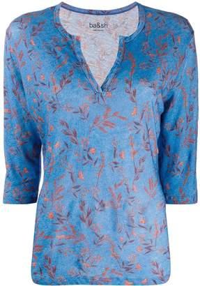 BA&SH floral print 3/4 sleeve top